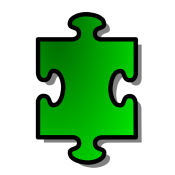 15000-illustration-of-a-green-puzzle-piece-pv