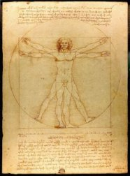 The VItruvian Man by Leonardo da Vinci. Creative Commons Licensed image via Wikipedia.