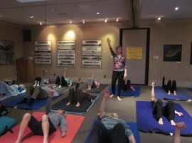 MaryBeth Smith teaches an Awareness Through Movement class at Houston's Jung Center