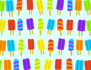 Cartoon popsicles